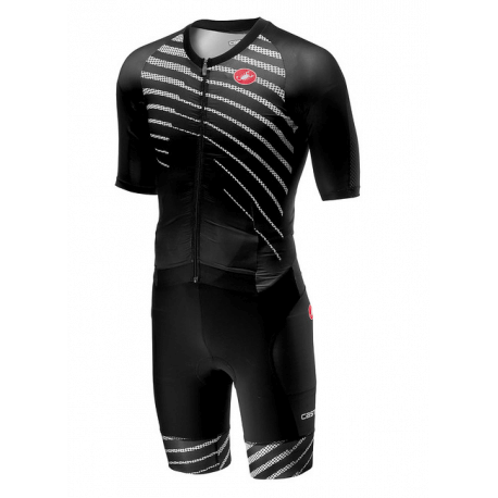 Trisuit all out speed suit man black white