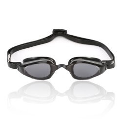 Michael Phelps K180 Swimming Goggles Silver Black Smoked Lens