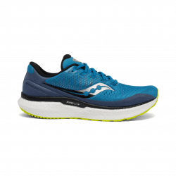 Saucony Triumph 18 Running Shoes Lime Blue SS21