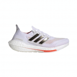 Adidas Ultra Boost 21 White Black AW21 Women's Running Shoes