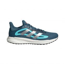 Adidas Solar Glide 4 Running Shoes Blue Silver White AW21