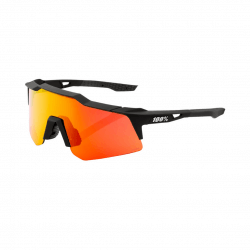 Goggles 100% Speedcraft XS Soft Tact Black HiPer Multilayer Red Lenses