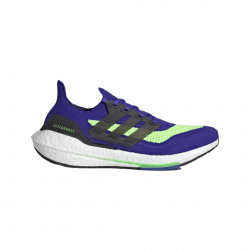 Adidas Ultra Boost 21 Running Shoes Blue Green AW21